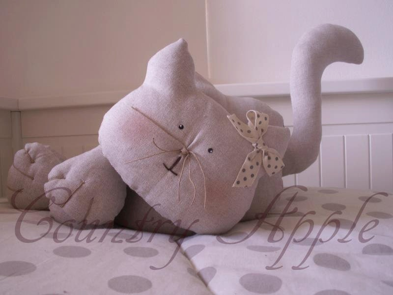 pattern cat doorstop gatto fermaporta