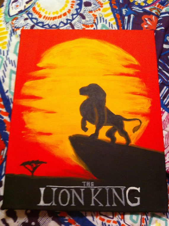 Lion King Canvas Painting For Beginners Step By Step