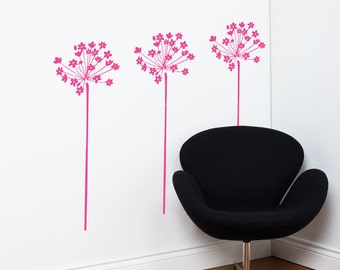 Fire-Flowers - Wall Decal - Pink