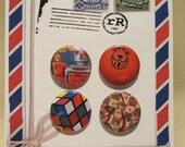 Retro 80's Toys Set of 4