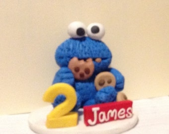 birthday cake topper cute cookie monster