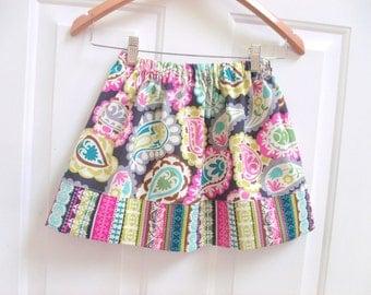 girls skirt fall skirt summer skirt pink brown aqua skirt twirly skirt girls clothing fall clothing simple skirt toddler skirt