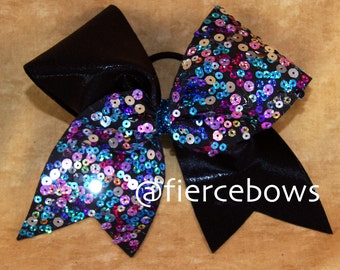 Confetti Tick Tock Cheer Bow