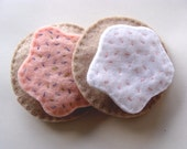 Felt Sugar Cookies, Tea Party, Felt Food, Pink and White, for Play & Pretend- Made to Order