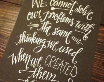 Custom Calligraphy Quote Prints