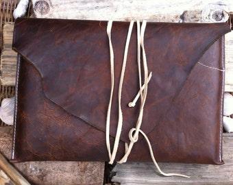 MacBook sleeve for Laptop 13 inch in brown leather-Leather Sleeve for MacBook 13 inch
