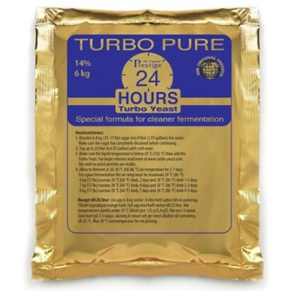 Prestige Turbo Pure 24 Hours Distilling Yeast For Making Home Crafted Spirits