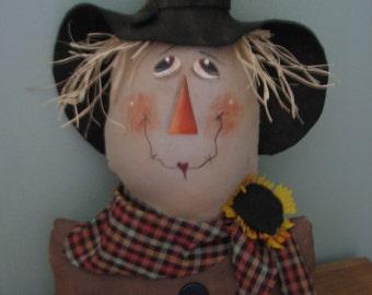 PRiMiTiVe RaGGeDy Fall HaLLoWeeN Harvest ScAReCrOw Doll Shelf PaTTeRn