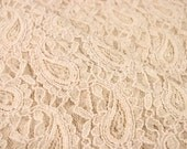 Masala Tan Stretchy Lace Fabric by the Yard, for Bridal, Arts and Crafts, Decoration - 1 Yard Style 310