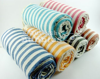 FREE Shipment, Set of 6, Cotton Turkish towels, Bridesmaid Gifts, Peshtemal and beach towels , Exclusive Quality Turkish Cotton