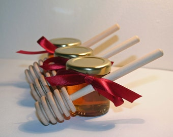 Honey Wedding Favour with Dipper - welsh honey - honey