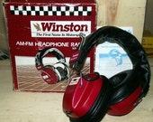 Winston Promo AM FM Headphone Radio