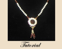 PDF for Crimson Lights Necklace - beadweaving beaded seed bead jewelry beading pattern tutorial