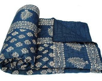 Jaipuri Hand made block print Double bed Quilts