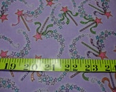By The Yard (36 inches) SEWING QUILTING Fabric Cotton Timeless Treasures Lloyds & Braton sparkle Magic wands