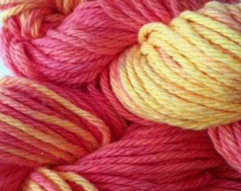 Handpainted Cotton - 70g - 120yd - Orange and Yellow