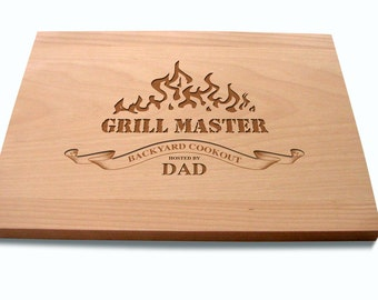 Dad's Cutting Board Grill Master Hostess Gift Foodie Couple Birthday Present Father's Day Present Grilling Gifts