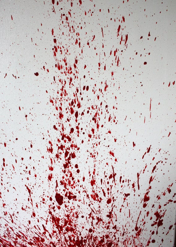 Blood Spatter Acrylic Painting Medium Velocity By