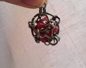 Captured 8-Sided Die Charm Keychain