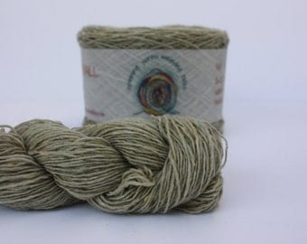 Spinning Yarns Weaving Tales - Tirchonaill 537 Pale Moss Green100% Merino for Knitting, Crochet, Warp & Weft