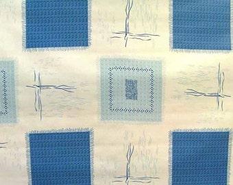 "55"" Ocean Blue OilCloth with Felt Back - 1 Yard"