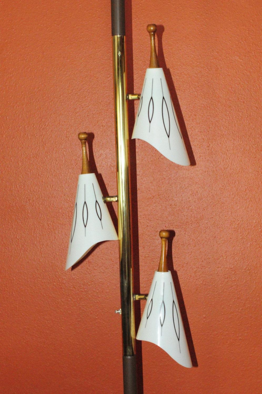 ^ tomic Mid entury Modern ension Pole by MidenturyMetropolis