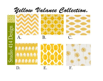 VALANCE.Yellow Valance. Yellow Window Treatment.Kitchen Window Valance.Valance Window Treatment