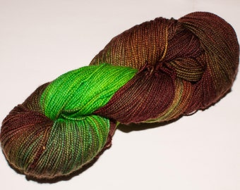 Westboro Merino/Cashmere/Nylon 400 yard Hand-Dyed Fingering Yarn in Sprout