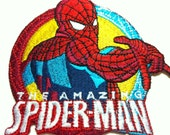 Comic Movie Spiderman (9 x 8.5cm) Embroidered Iron on Applique Patch (F)