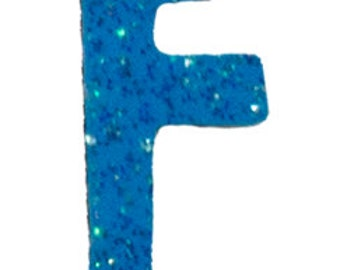 Turquoise Blue Letter F