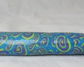 Purple, Blue & Chartreuse Swirls Crochet Hook  US size 8/1.5mm hook