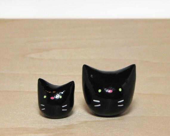 Black Pocket Kitty Duo