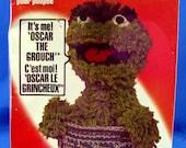 Oscar the Grouch Sesame Street Crochet Doll Toy Amigurumi Kit - Mint in Box - Vintage 1979