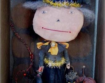 Primitive Halloween Pattern EPattern PDF Witch Doll Mixed Media Figurine Folk Art by Hickety Pickety  AS42