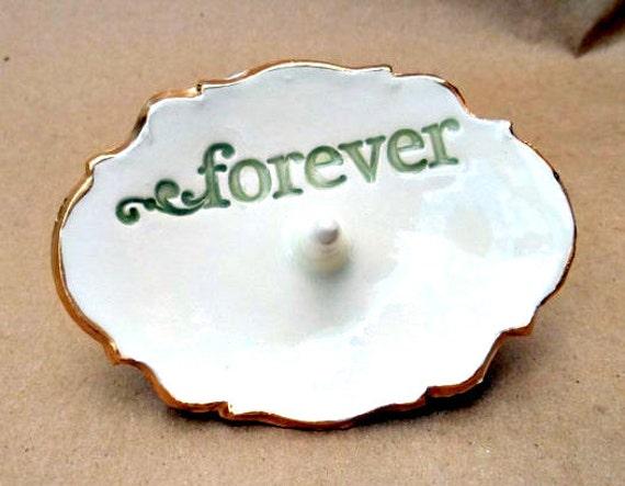 Ceramic Ring Holder Engagement Forever