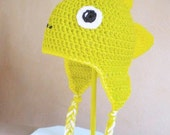 Crochet Hat - Dinosaur Hat in Lime Green and Yellow with Braids - Silly Stegosaurus Hat for Baby / Toddler / Boy / Girl / Man / Woman