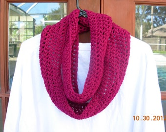 CLEARANCE-Infinity Eternity Cowl Scarf-Boysenberry
