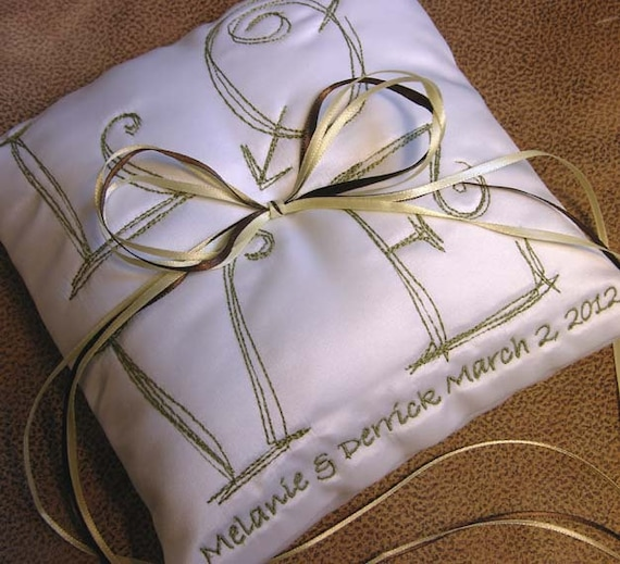 Cute LOVE ring pillow with custom colors and details
