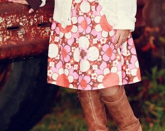 Girls Toddlers Boutique Skirts 2t-12/13 tween  Tossed Daisy Corduroy skirt