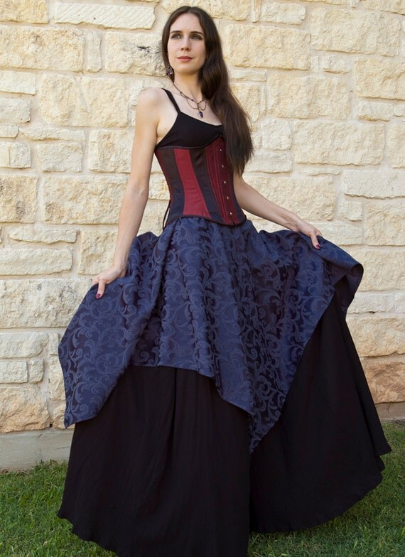 Sapphire Pixie Skirt Renaissance Halloween Costume - Last one!