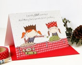 Christmas Card - Macy Loves Sprouts - Single Card (Blank)