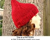 Instant Download Knitting Pattern - Knit Hat Knitting Pattern - Knit Hat Pattern Gnome Hat Pattern - Womens Hat Pattern - Womens