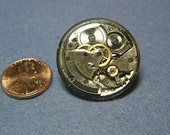 Steampunk Inspired Resin Watch Part Pin 3