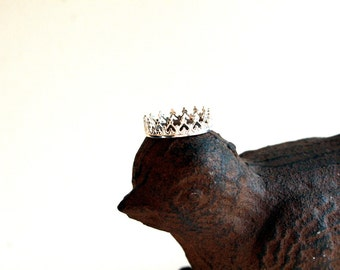 SALE Little Princess Crown Sterling Silver Ring