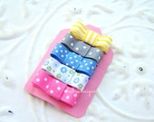 Bright Infant Clips / Baby Bow / Baby Snap Clips / Newborn Baby girls Pink Bows / HairBows No Slip Hair Clips / For nearly bald babies