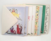 Lot of Vintage Christmas Cards - Greeting Cards - Unused - With Envelopes - 1960s