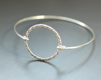 Silver Bracelet, Nautical Bracelet, Bangle, Stacking Bracelet, Silver Bangle, Modern Minimalist Jewelry, Geometric