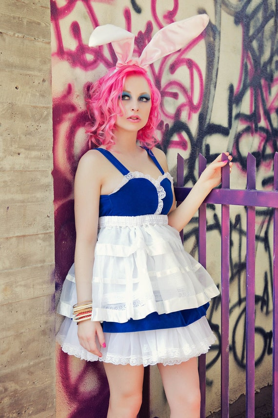 Japanese Harajuku Fashion KPop Decora Girl Cosplay Costume Alice In Wonderland Dress by Janice Louise Miller