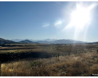 Photography Montana Landscape Early Morning Sun, Zen Moment, Open Range