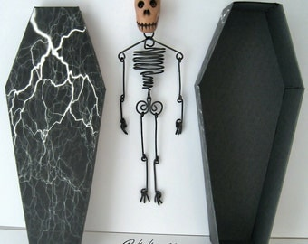 Wire Skeleton with Glow-in-the-Dark Skull